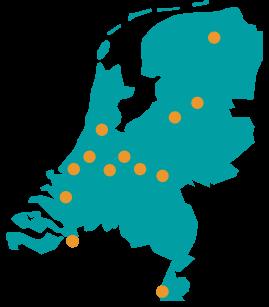 Alle locaties van de coaching en counselling opleidingen van de ACC in Nederland
